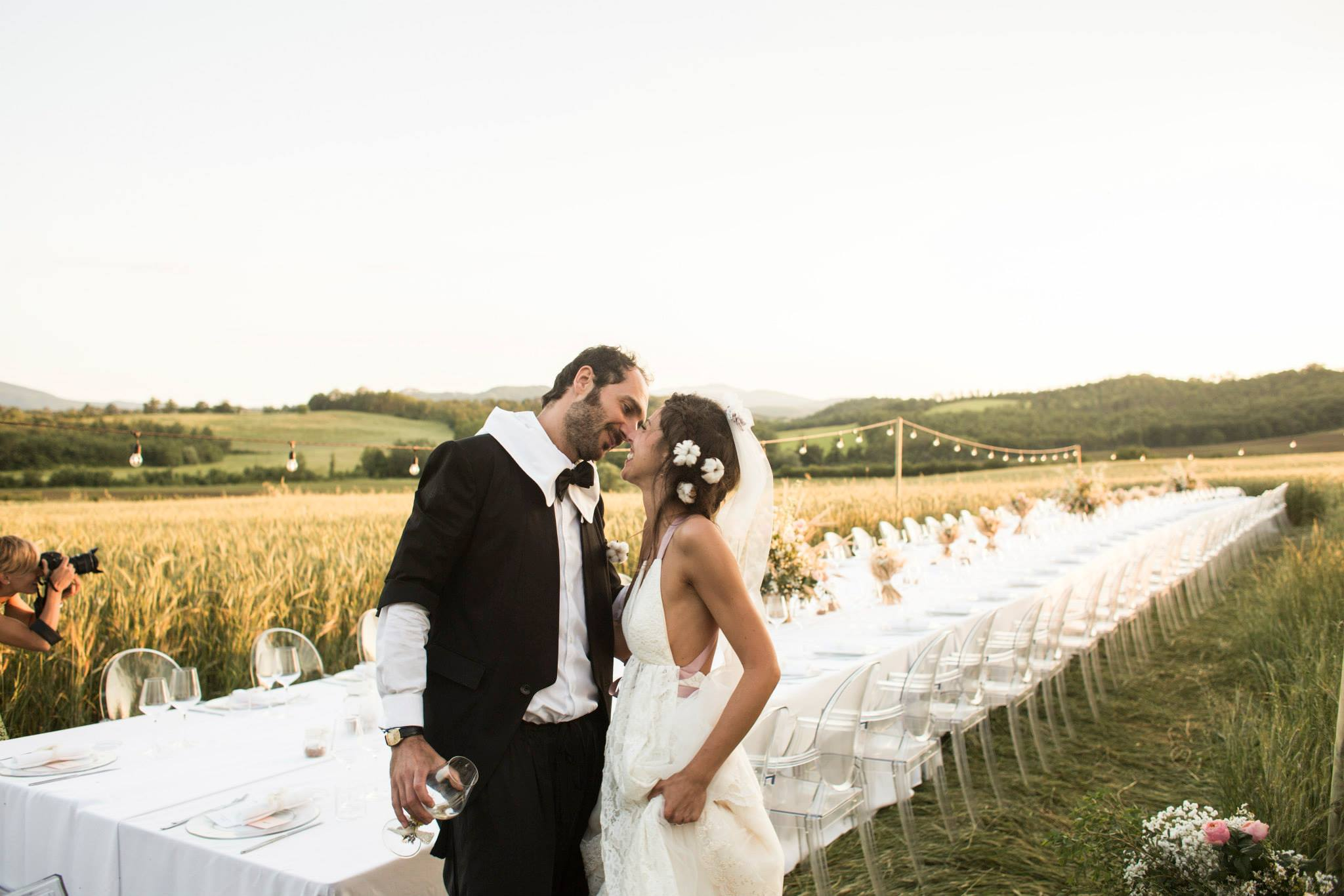 country chic wedding tuscany
