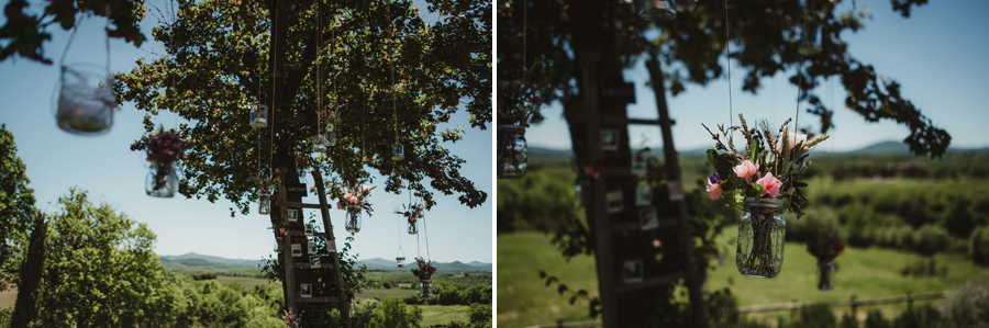 country chic wedding in tuscany   open fieldceremony