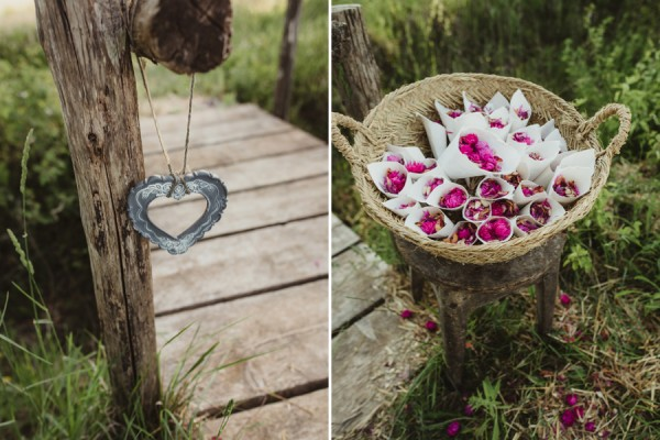 country chic wedding in tuscany | confetti rain details