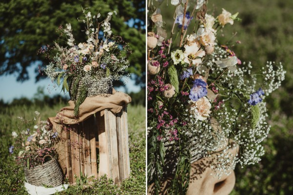 country chic wedding in tuscany   Country Ceremony Setup