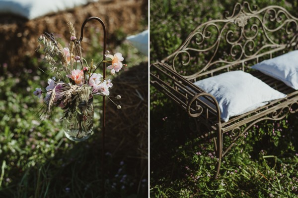 country chic wedding in tuscany | Country Ceremony Setup