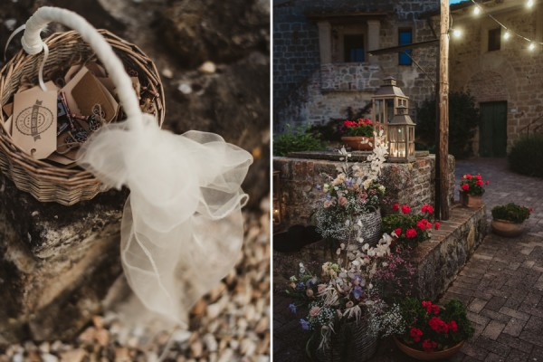 country chic wedding in tuscany   Country Chic dinner setup
