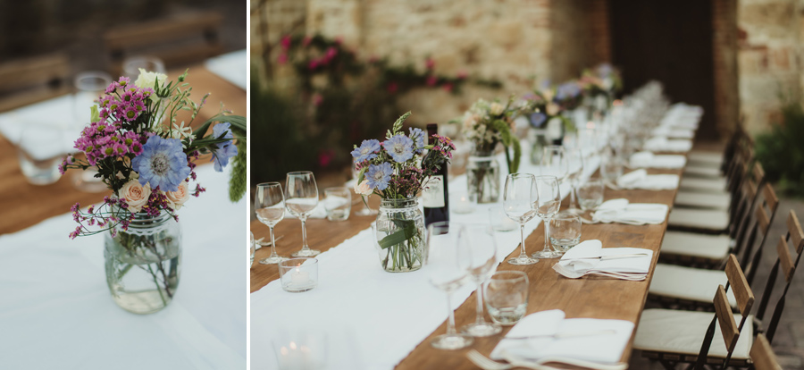 country chic wedding in tuscany | Country Chic table decor